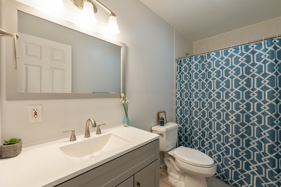 Real Estate Photography - 1635 S Cline, Griffith, IN, 46319 - 2nd Bathroom