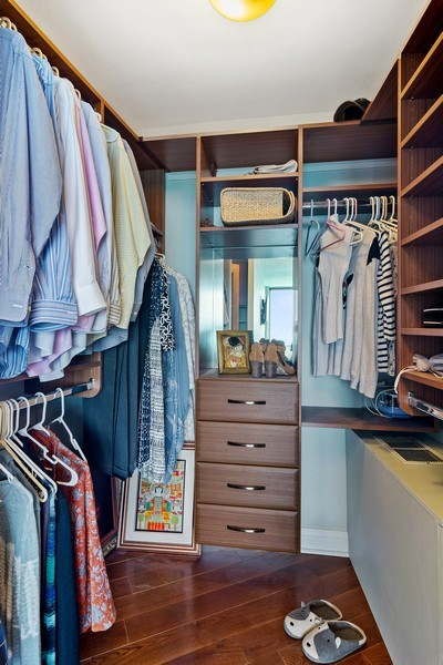 Real Estate Photography - 6101 N Sheridan Rd East unit 29-B, Chicago, IL, 60660 - Master Bedroom Closet