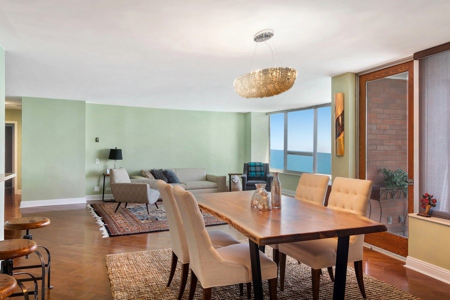 Real Estate Photography - 6101 N Sheridan Rd East unit 29-B, Chicago, IL, 60660 - Living Room/Dining Room
