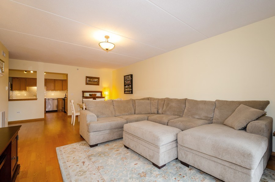 Real Estate Photography - 501 Alles, Unit 303, Des Plaines, IL, 60016 - Living Room/Dining Room