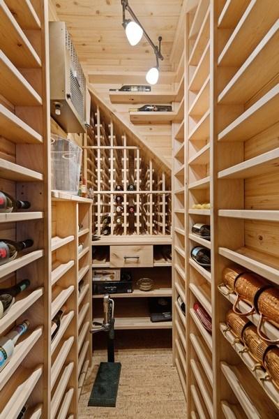 Real Estate Photography - 3820 Alta Vista Ter, Chicago, IL, 60613 - Wine Cellar
