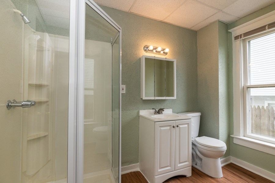 Real Estate Photography - 2406 Gilead Ave, Zion, IL, 60099 - 2nd Bathroom
