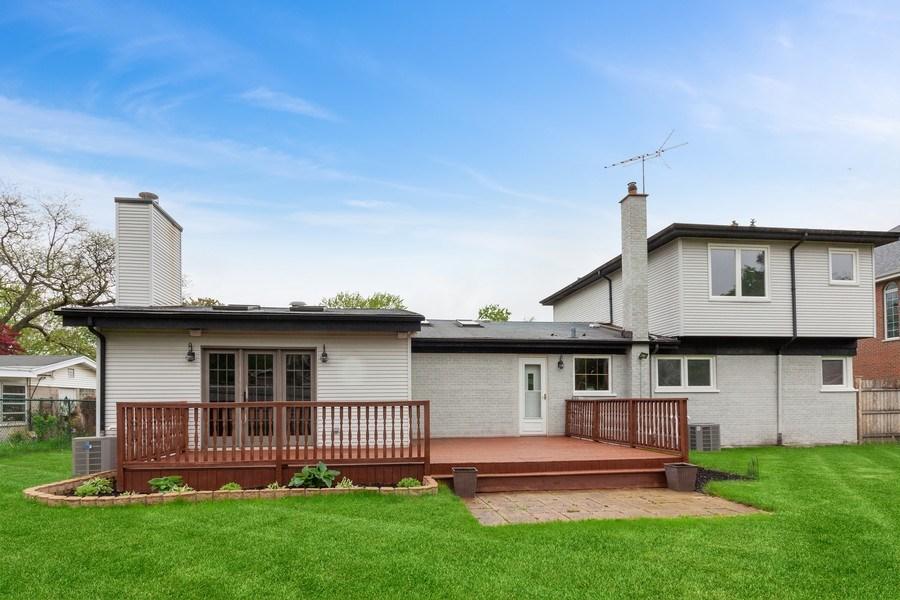 Real Estate Photography - 525 Lotus Lane, Glenview, IL, 60025 - Rear View