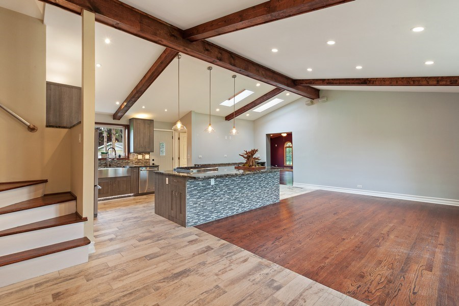 Real Estate Photography - 525 Lotus Lane, Glenview, IL, 60025 - Kitchen / Living Room