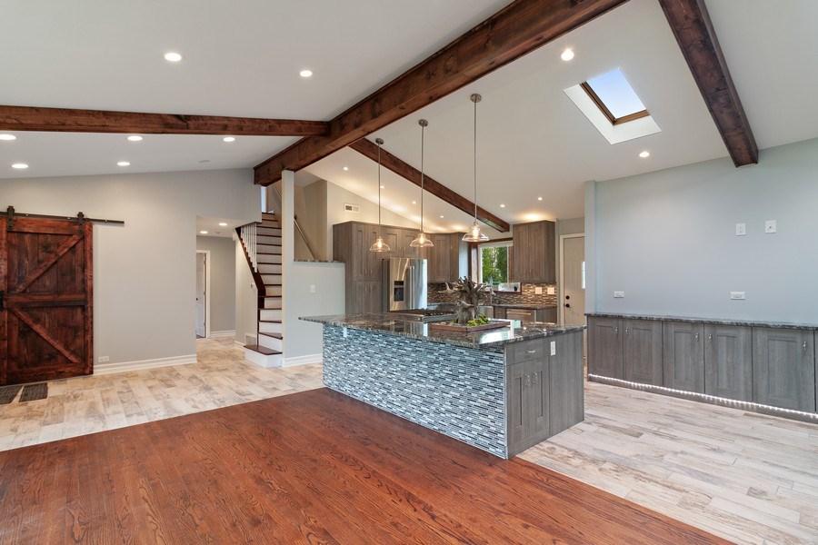 Real Estate Photography - 525 Lotus Lane, Glenview, IL, 60025 - Kitchen/Living