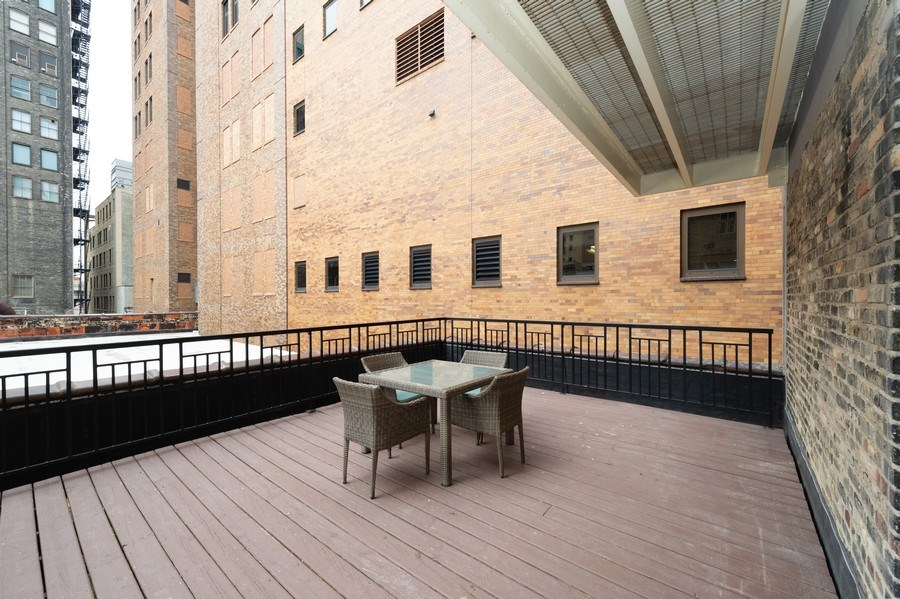 Real Estate Photography - 741 N Milwaukee St Unit 203, Milwuakee, WI, 53202 - Terrace