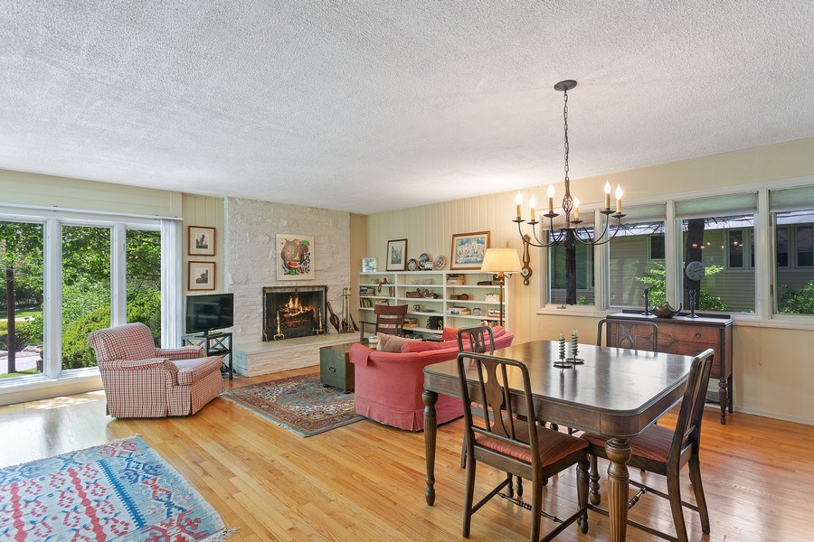 Real Estate Photography - 2303 Hazeltine, Long Beach, IN, 46360 - Living Room / Dining Room