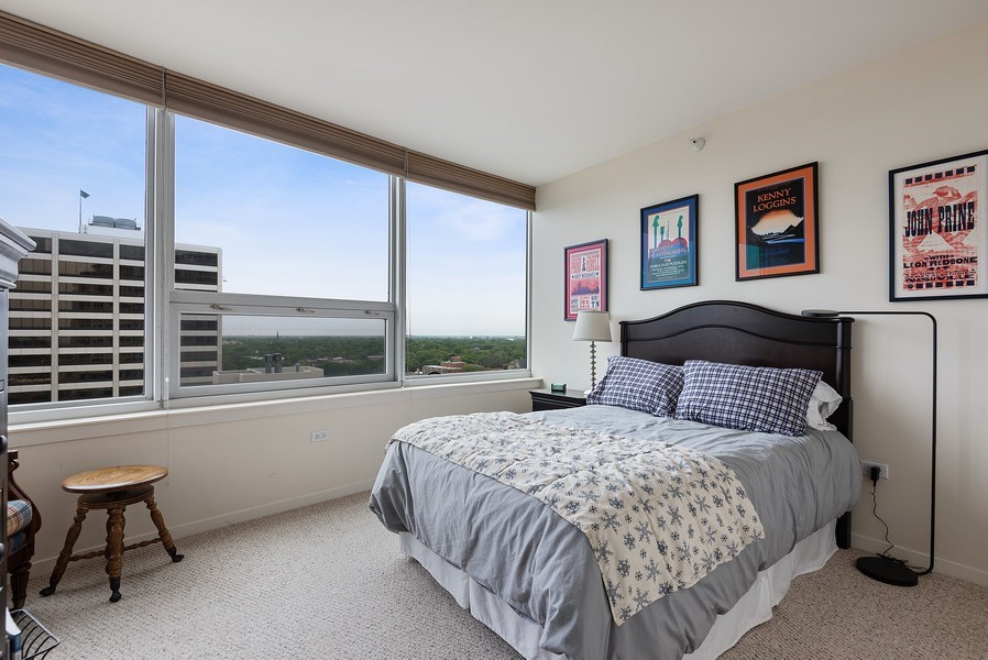 Real Estate Photography - 807 Davis Street #1504, Evanston, IL, 60201 - Bedroom