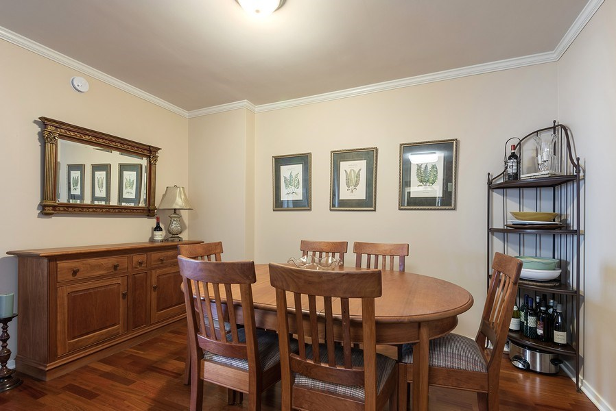 Real Estate Photography - 807 Davis Street #1504, Evanston, IL, 60201 - Dining Room