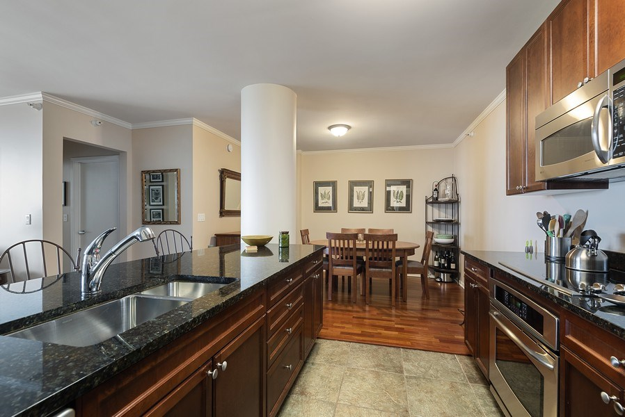 Real Estate Photography - 807 Davis Street #1504, Evanston, IL, 60201 - Kitchen
