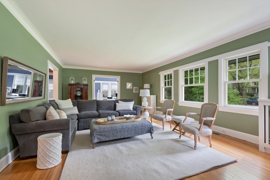 Real Estate Photography - 216 Broadway Ave, Wilmetter, IL, 60091 - Living Room