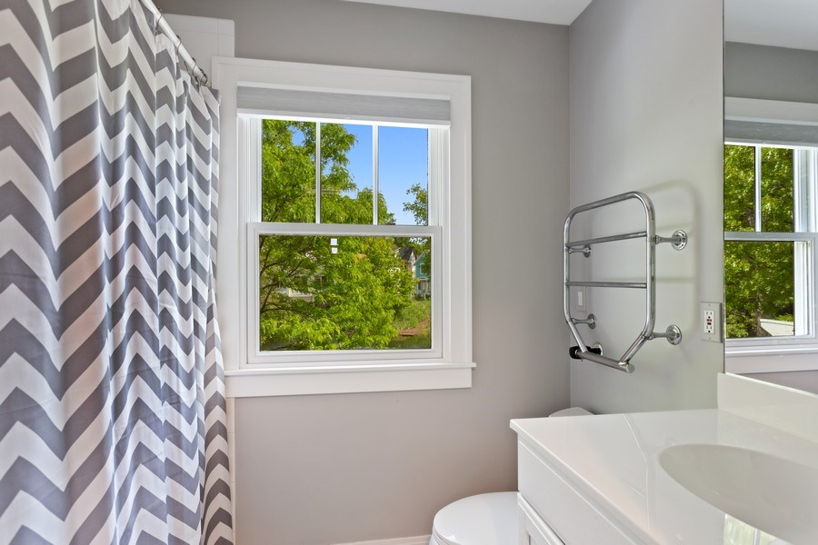 Real Estate Photography - 233 Beachwalk Ln, Michigan City, IN, 46360 - Guest House Bathroom