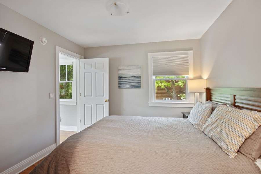 Real Estate Photography - 233 Beachwalk Ln, Michigan City, IN, 46360 - Guest House Bedroom