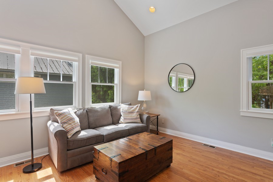 Real Estate Photography - 233 Beachwalk Ln, Michigan City, IN, 46360 - Guest House Living Room