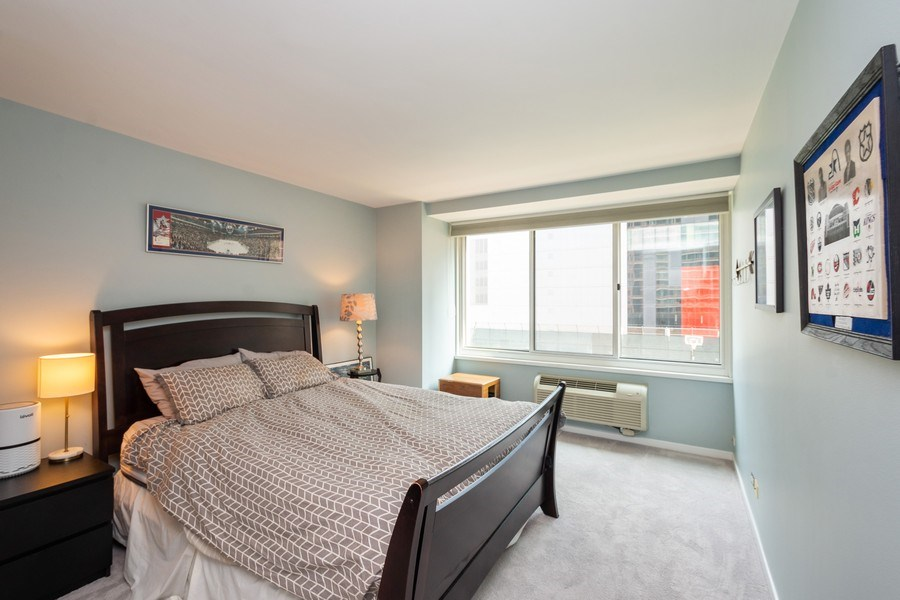 Real Estate Photography - 211 E Ohio #818, chicago, IL, 60611 - Master Bedroom