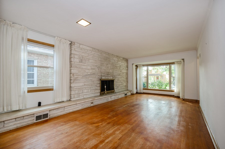 Real Estate Photography - 6231 N. Kildare Avenue, Chicago, IL, 60646 - Living Room / Dining Room
