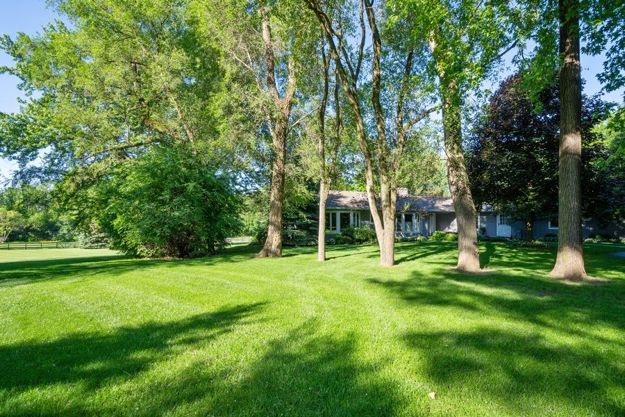 Real Estate Photography - 321 Old Sutton Rd, Barrington Hills, IL, 60010 - Side View