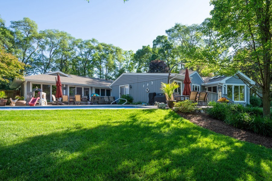 Real Estate Photography - 321 Old Sutton Rd, Barrington Hills, IL, 60010 - Rear View