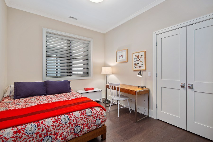 Real Estate Photography - 3950 N Hoyne, 2S, Chicago, IL, 60618 - 2nd Bedroom
