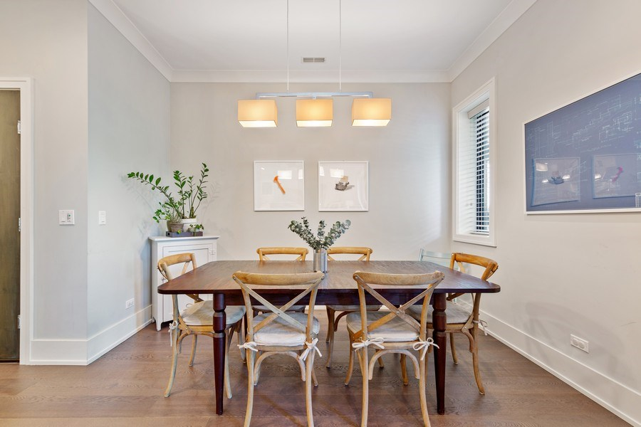 Real Estate Photography - 3950 N Hoyne, 2S, Chicago, IL, 60618 - Dining Room