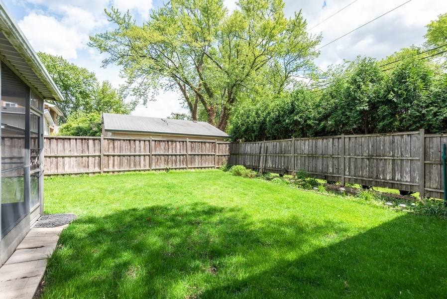 Real Estate Photography - 2515 Wilmette Ave, Wilmette, IL, 60091 - Back Yard