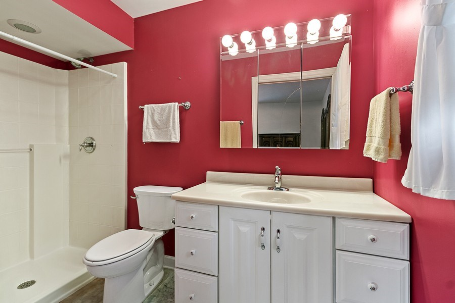 Real Estate Photography - 2 Dinosaur Rd, Wilmington, IL, 60481 - Master Bathroom