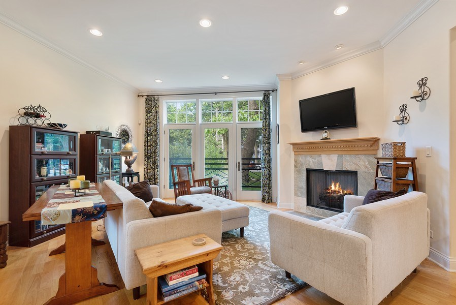 Real Estate Photography - 2632 Broadway, Evanston, IL, 60201 - Living Room