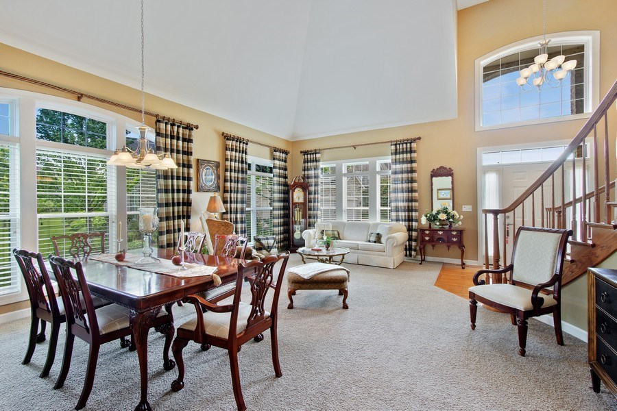 Real Estate Photography - 713 Fieldstone Ct, Inverness, IL, 60010 - Living Room / Dining Room