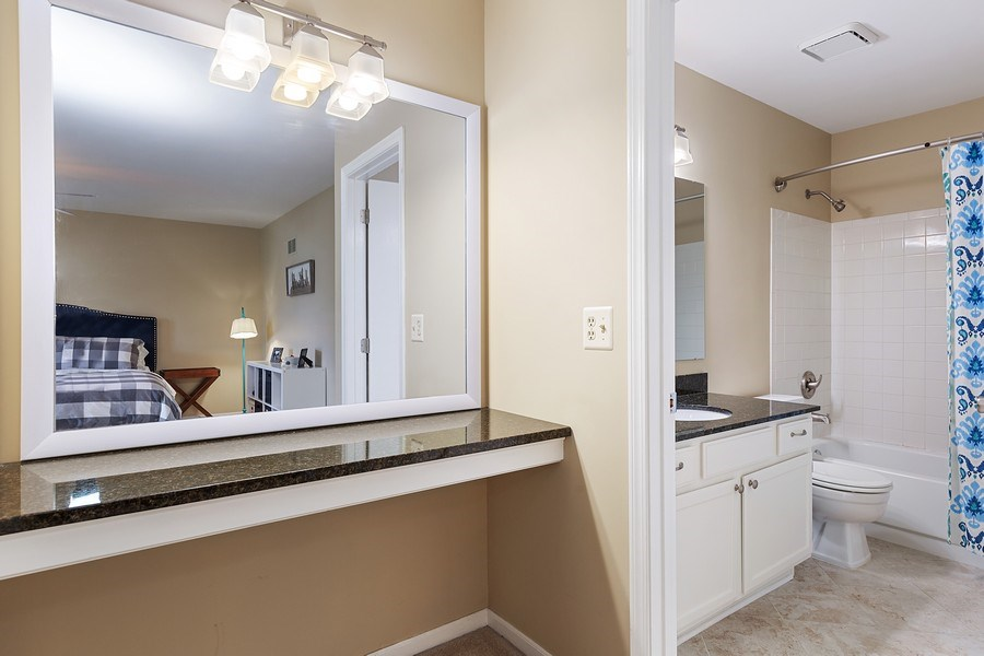 Real Estate Photography - 7341 Canterbury Pl 19-3, Downers Grove, IL, 60516 - Master Bedroom Bath