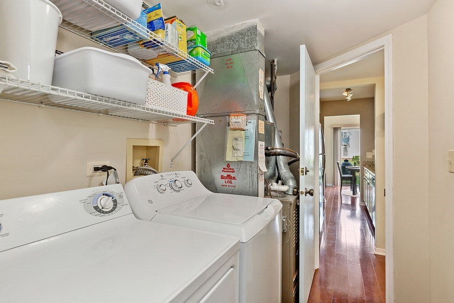 Real Estate Photography - 7341 Canterbury Pl 19-3, Downers Grove, IL, 60516 - Laundry Room