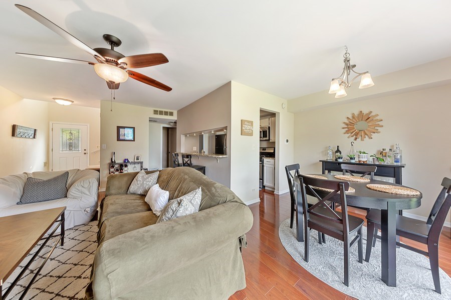 Real Estate Photography - 7341 Canterbury Pl 19-3, Downers Grove, IL, 60516 - Living Room / Dining Room
