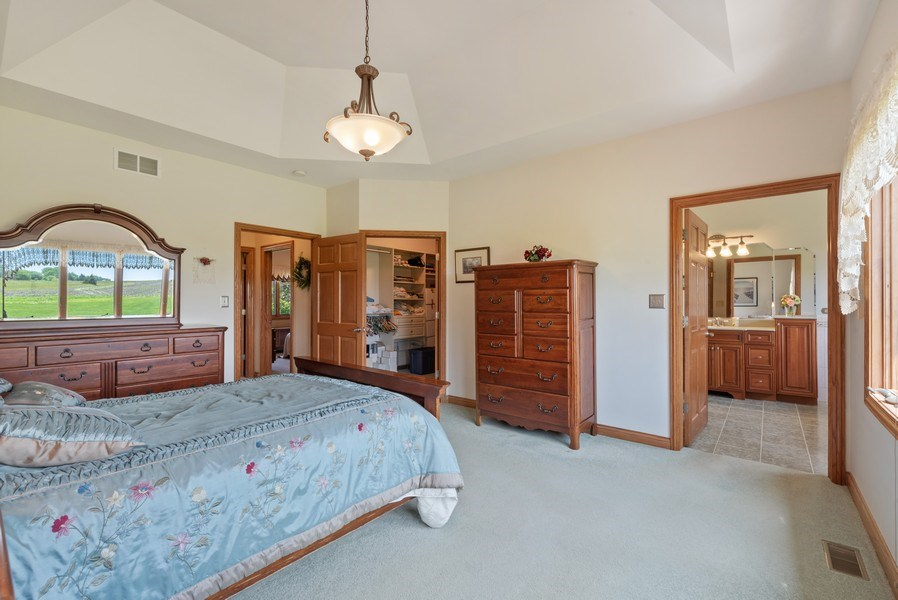 Real Estate Photography - 2029 W. Church Road, Beecher, IL, 60401 - Master Bedroom