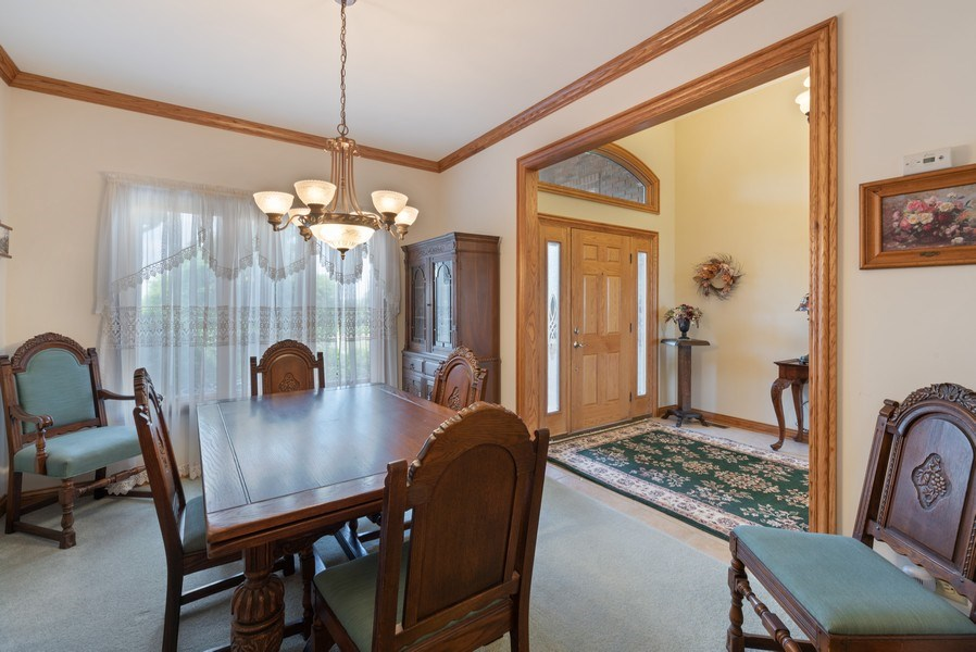 Real Estate Photography - 2029 W. Church Road, Beecher, IL, 60401 - Dining Room