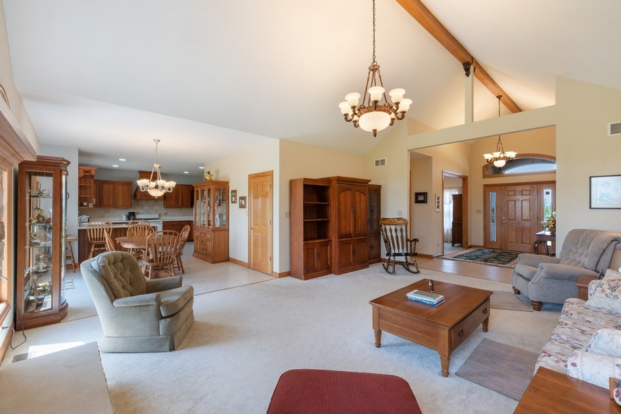 Real Estate Photography - 2029 W. Church Road, Beecher, IL, 60401 - Family Room