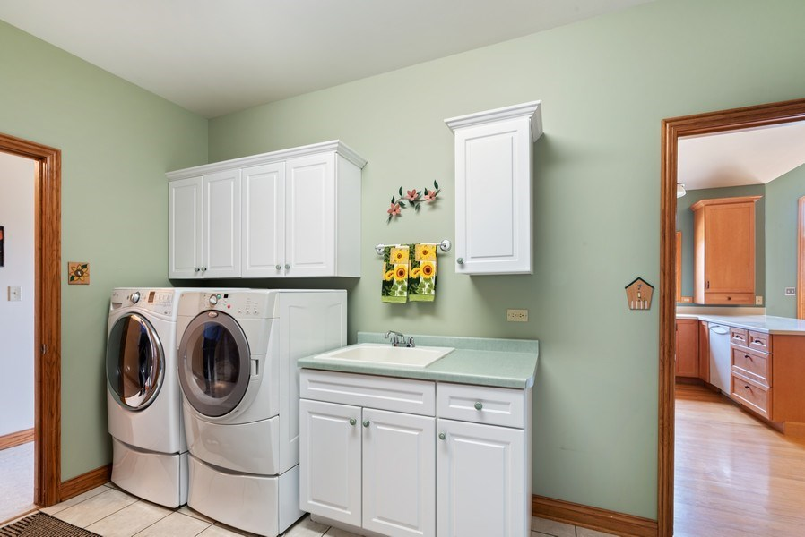 Real Estate Photography - 2029 W. Church Road, Beecher, IL, 60401 - Laundry Room