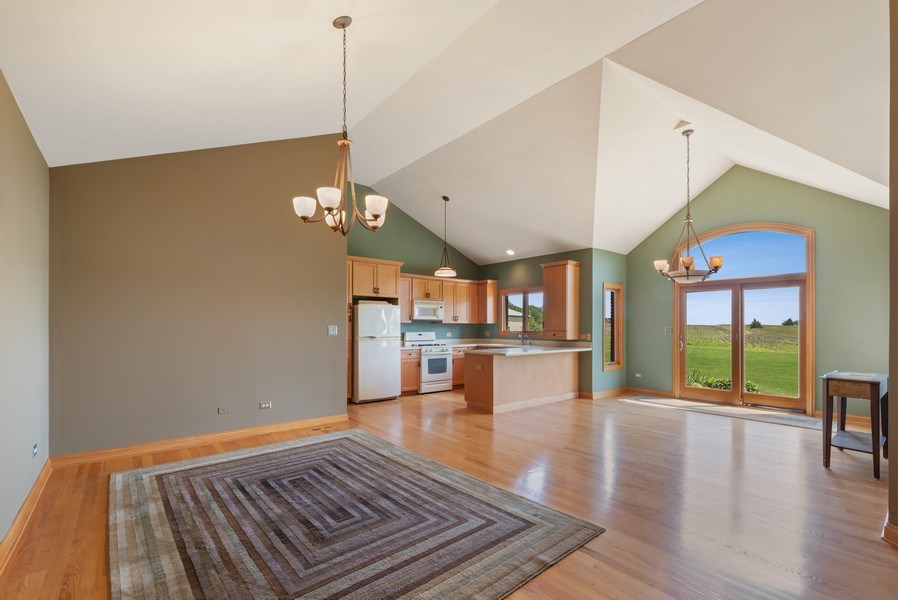 Real Estate Photography - 2029 W. Church Road, Beecher, IL, 60401 - Living Room / Dining Room