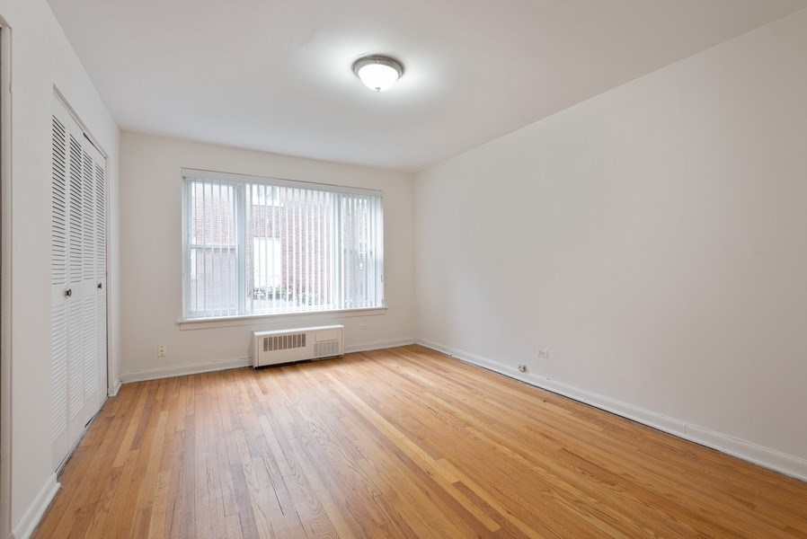 Real Estate Photography - 2424 W. Estes Uit 2G, Chicago, IL, 60645 - Bedroom