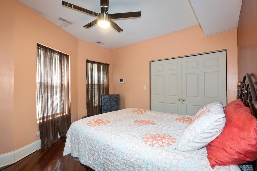 Real Estate Photography - 4819 S Prairie, 1S, Chicago,, IL, 60615 - Master Bedroom
