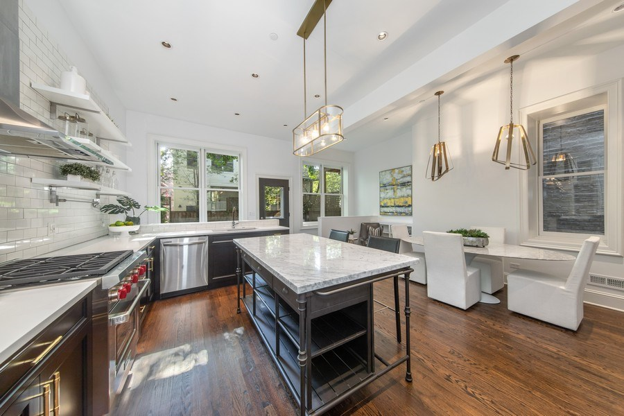 Real Estate Photography - 1708 N Sedgwick, Chicago, IL, 60614 - Kitchen / Breakfast Room