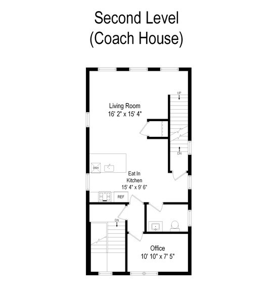 Real Estate Photography - 1708 N Sedgwick, Chicago, IL, 60614 - Floor Plan