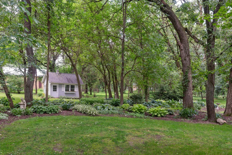 Real Estate Photography - 1953 Ole Hickory Road, Amboy, IL, 61310 - Landscaped yard with 12 x 16 Garden Shed