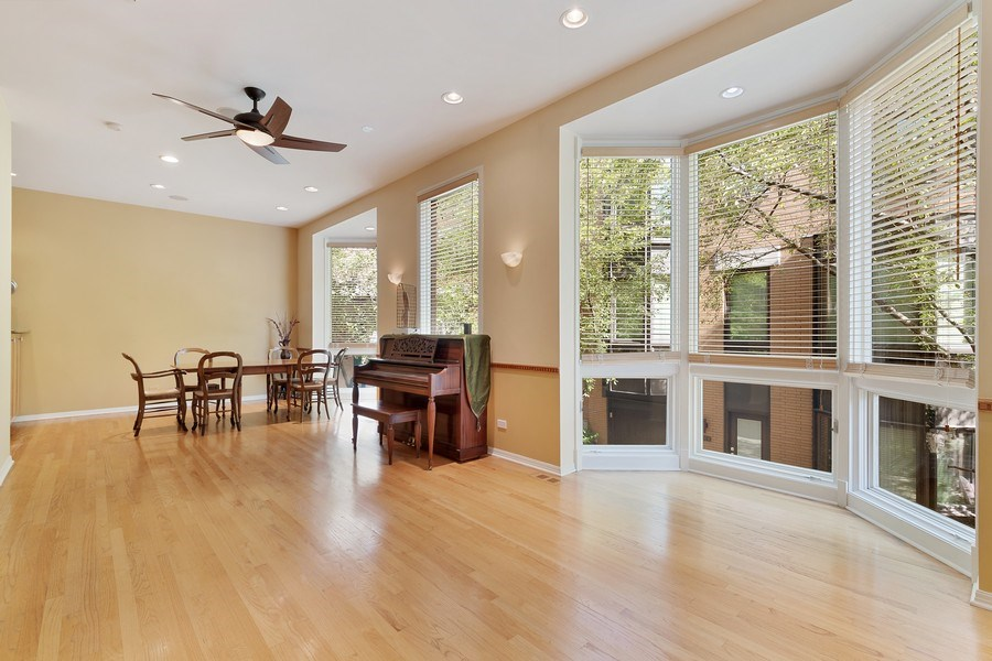 Real Estate Photography - 1445 N Cleveland Ave, Unit B, Chicago, IL, 60610 - Living Room / Dining Room