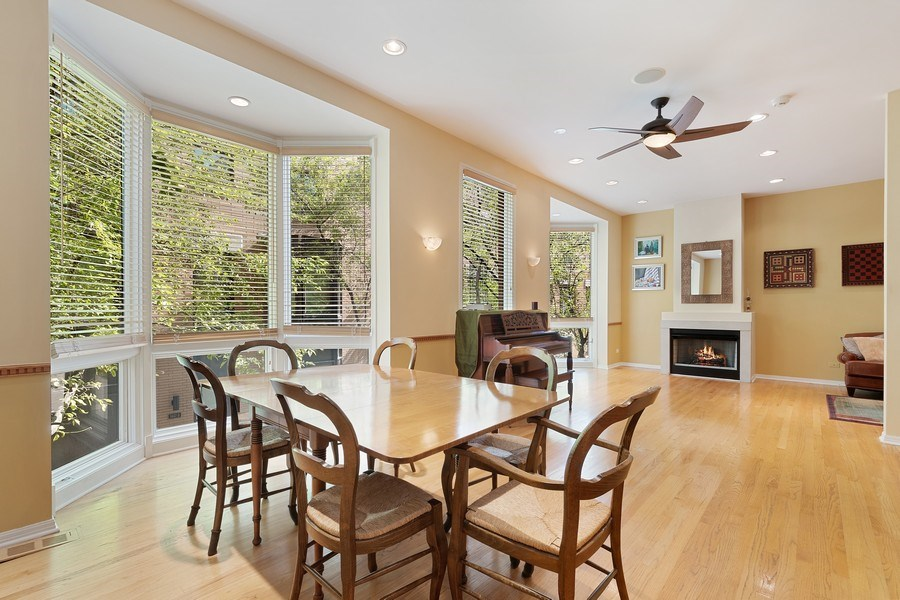 Real Estate Photography - 1445 N Cleveland Ave, Unit B, Chicago, IL, 60610 - Living Room/Dining Room