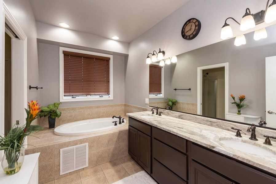 Real Estate Photography - 11068 Oregon Lane, crown point, IN, 46307 - Master Bathroom