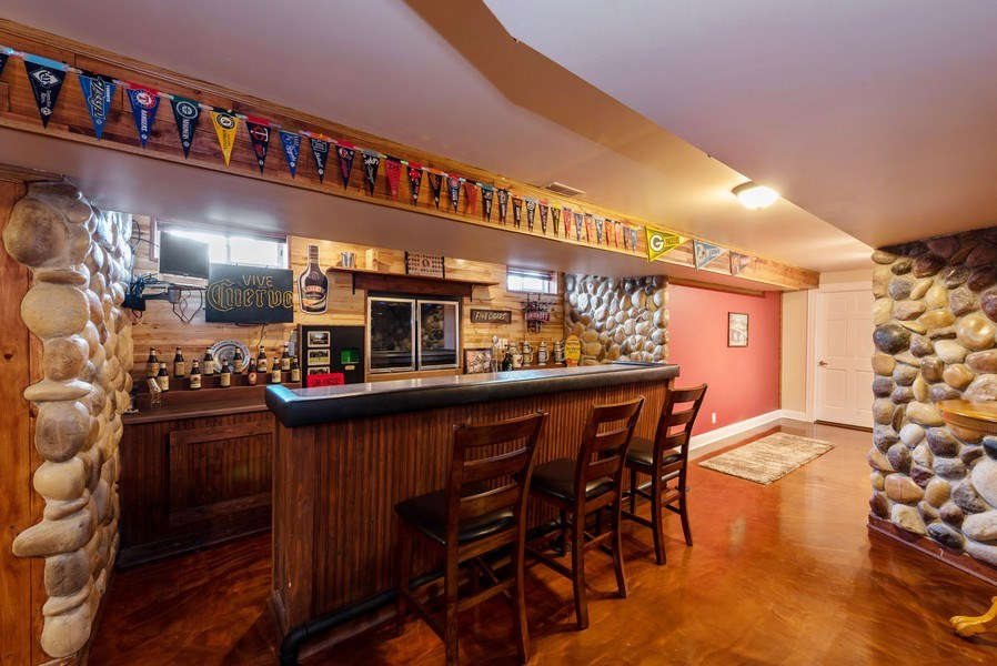 Real Estate Photography - 11068 Oregon Lane, crown point, IN, 46307 - Bar