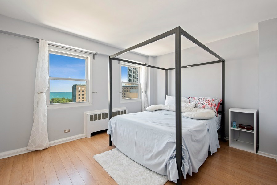 Real Estate Photography - 2909 N Sheridan, Unit 1608, Chicago, IL, 60657 - Bedroom