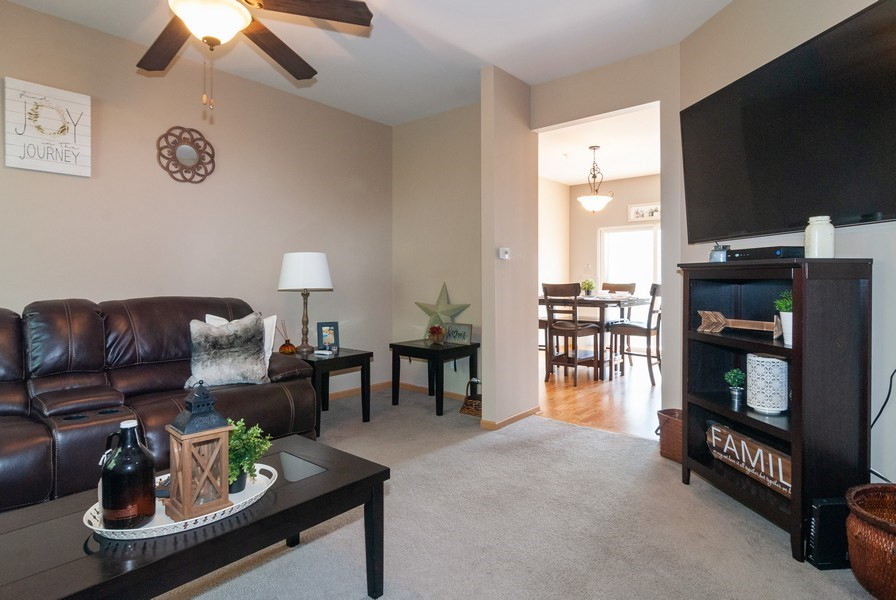 Real Estate Photography - 1361 Chestnut Ln, Yorkville, IL, 60101 - Living Room / Dining Room