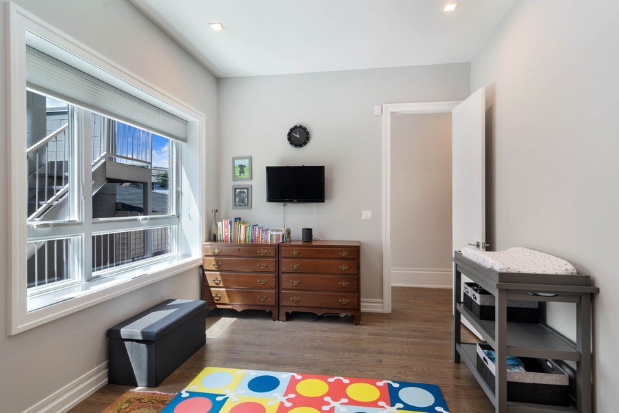 Real Estate Photography - 2027 W Belmont Ave #1, Chicago, IL, 60618 - 2nd Bedroom