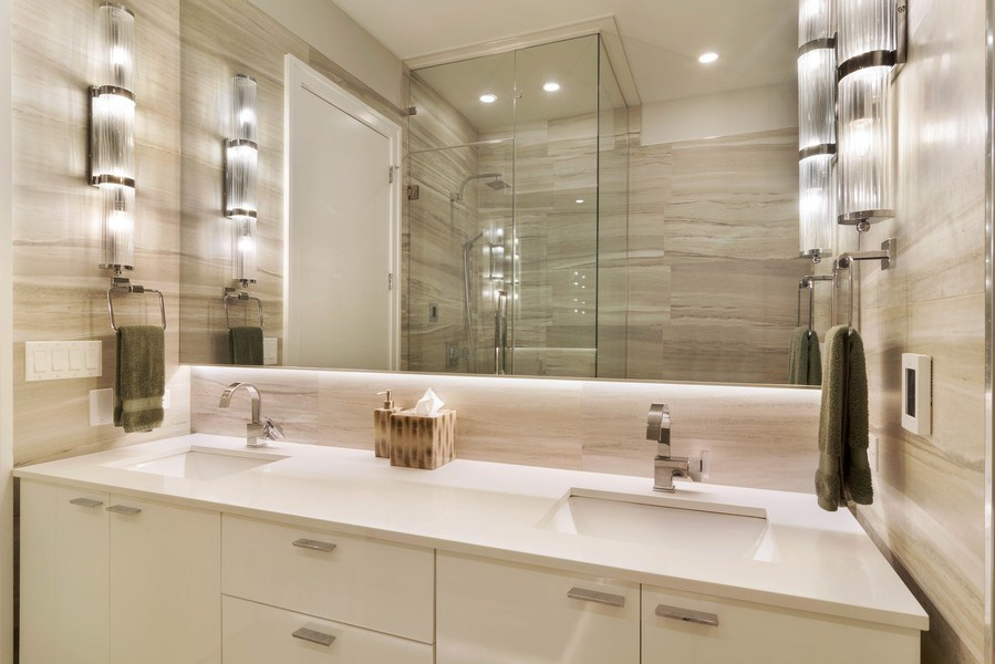 Real Estate Photography - 2027 W Belmont Ave #1, Chicago, IL, 60618 - Master Bathroom