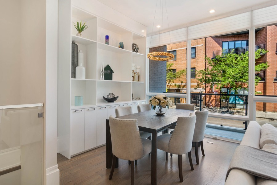 Real Estate Photography - 2027 W Belmont Ave #1, Chicago, IL, 60618 - Dining Room